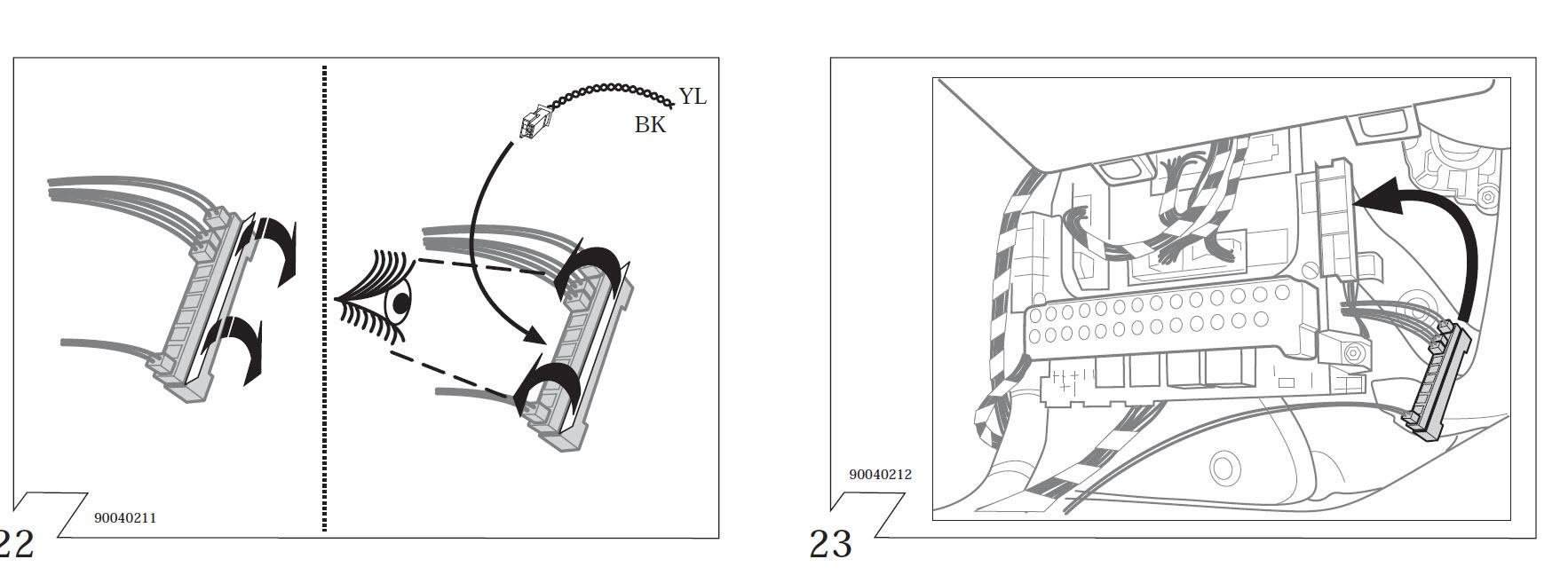 Org. Mercedes-Benz Elektrosatz 13 pol. für Anhängerkupplung anschließen