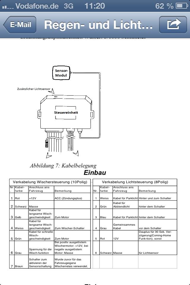 W168 Schaltplan Lichtschalter