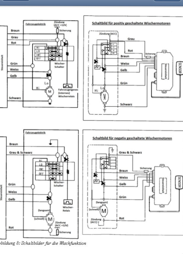 Fein Universal Wischermotor Schaltplan Galerie - Elektrische ...