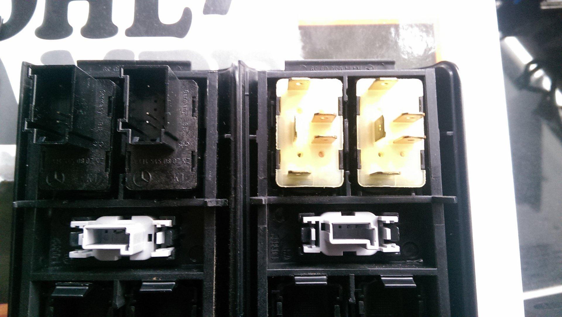 Schaltplan Fensterheber Schalter - verschiedene Ausführungen